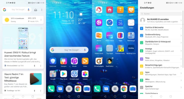 Honor 20 Pro Software Magic UI