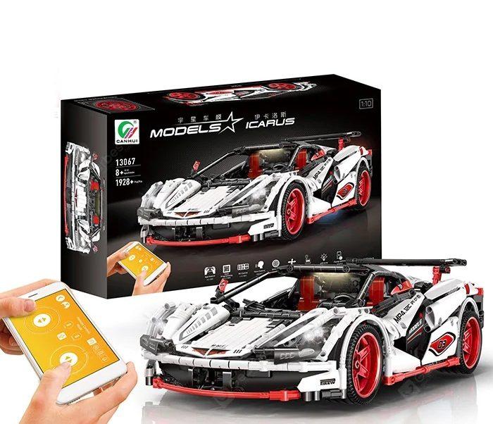 MOC 8867 Klemmbaustein-Auto mit Karton und Smartphone