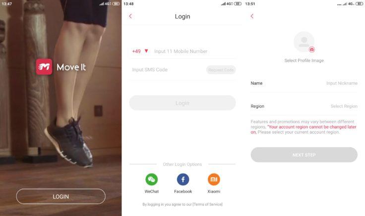 MoveIt Speed smarter Boxsack App Registrierung