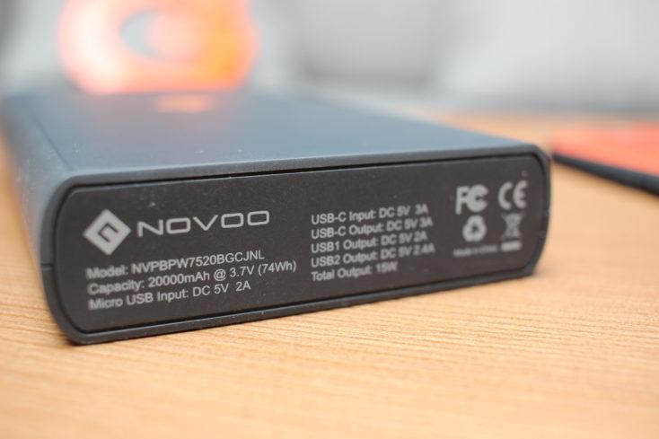 NOVOO Powerbank 20000 CE-Kennzeichnung