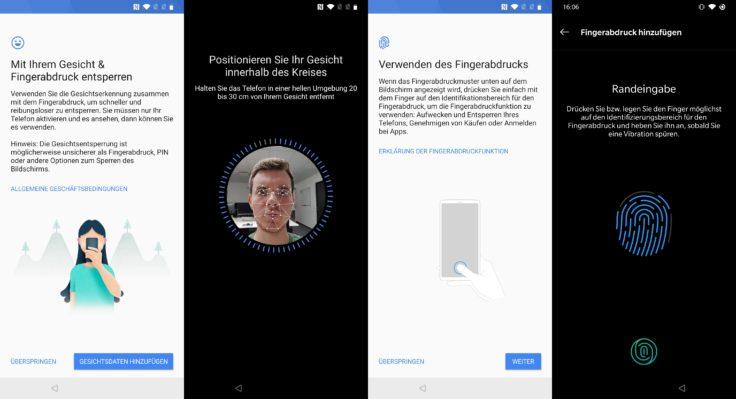 OnePlus 7 Face Unlock Fingerabdrucksensor