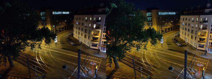 OnePlus 7 Nachtmodus Strasse