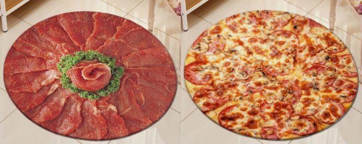 Pizza-Teppich Carpaccio Salami