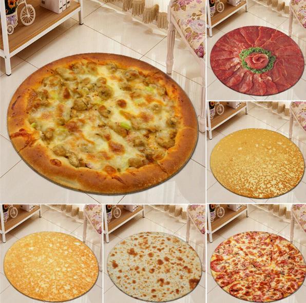 Pizza Teppiche Duschvorleger