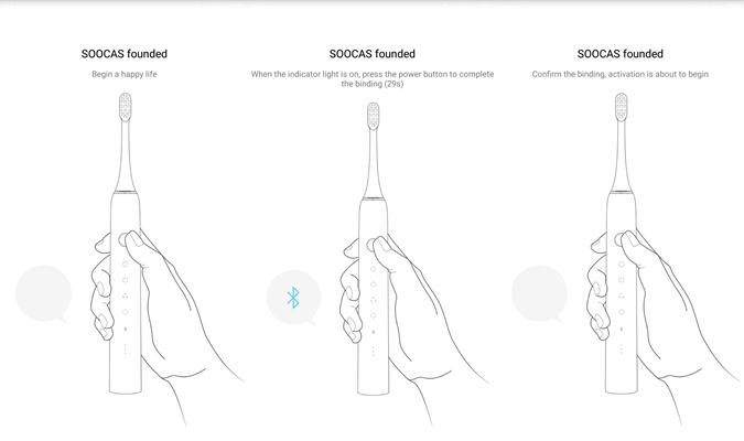 Soocas X5 elektrische Zahnbürste App Bluetooth-Verbindung
