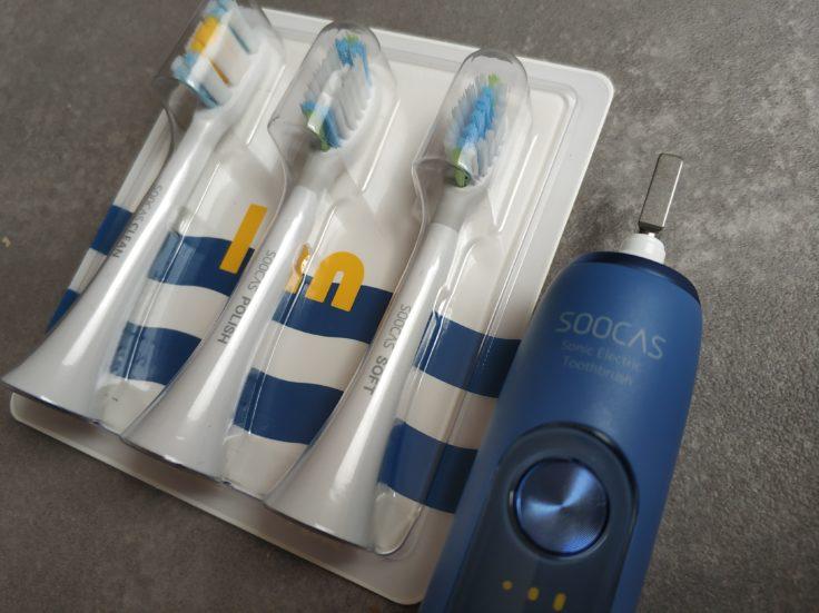 SOOCAS X5 elektrische Zahnbürste Bürsten