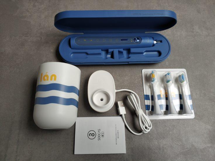 SOOCAS X5 elektrische Zahnbürste Lieferumfang