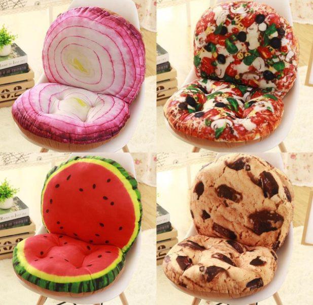 Stuhlkissen Obst Cookie Zwiebel Pizza Melone