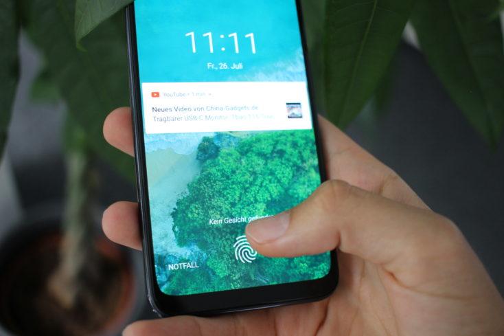 Xiaomi Mi A3 Fingerabdrucksensor im Display