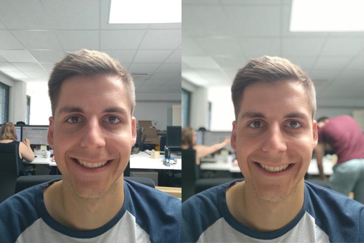 Xiaomi Mi A3 Frontkamera Testfoto Portraitmodus Vergleich