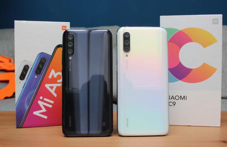 Xiaomi Mi A3 vs Mi CC9 Rückseite