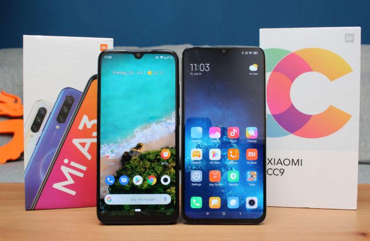 Xiaomi Mi A3 vs Mi CC9 Smartphones