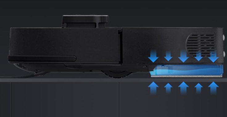 360 S7 Plus Saugroboter Wischplatte Wischfunktion