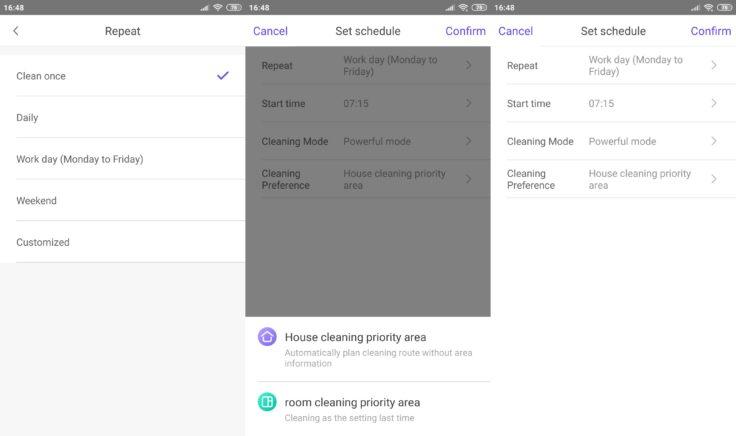 360 S7 Saugroboter 360Smart App Arbeitszeiten einplanen