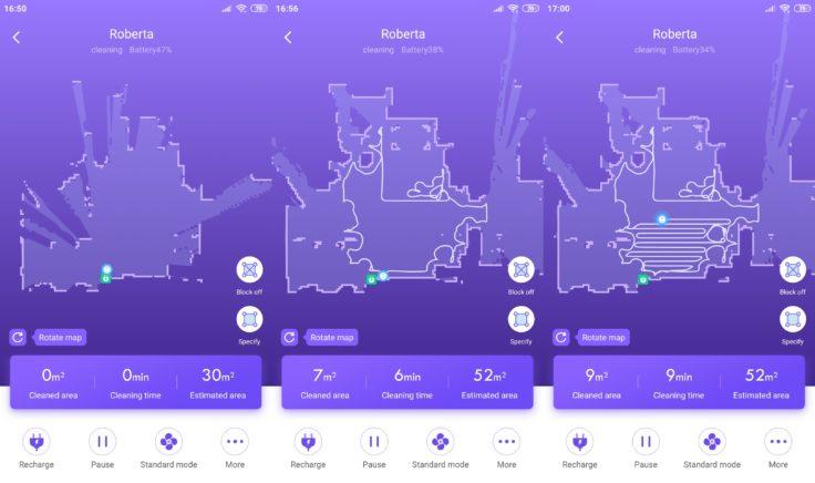 360 S7 Saugroboter 360Smart App Mapping