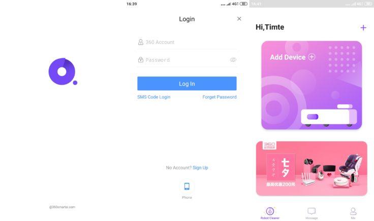 360 S7 Saugroboter 360Smart App Registrierung