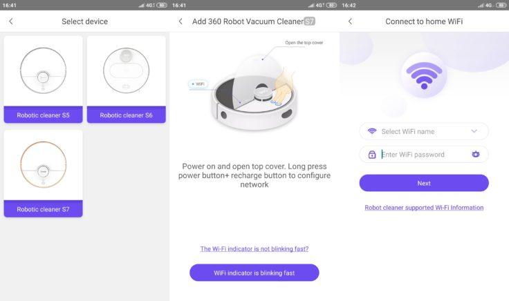 360 S7 Saugroboter 360Smart App WLAN-Verbindung