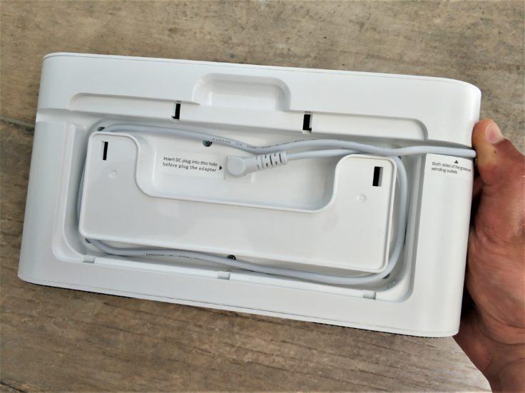 360 S7 Saugroboter Rückseite Ladestation Kabel aufrollen