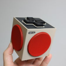 8Bitdo Retro Cube Speaker in Hand