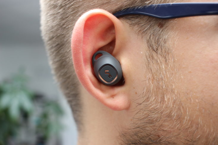 Aukey Key Series EP-T10 wireless In-Ear Tragekomfort im Ohr