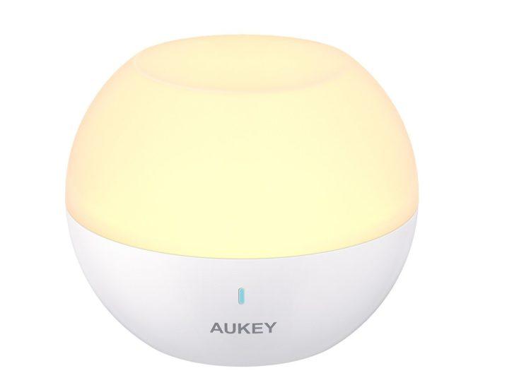 Aukey Nachttischlampe rund