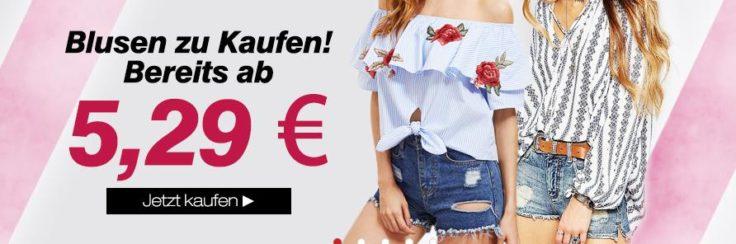 Blusen zu kaufen LightInTheBox Werbebanner