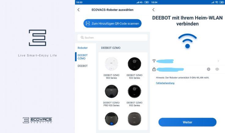 Ecovacs Deebot Ozmo 950 Saugroboter Home App