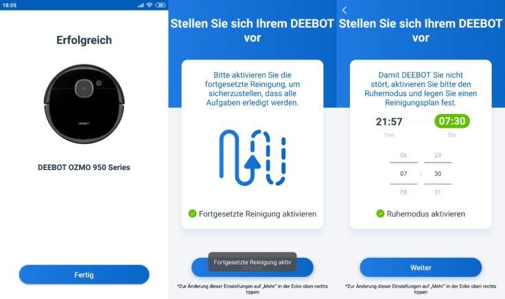 Ecovacs Deebot Ozmo 950 Saugroboter Home App DND-Modus