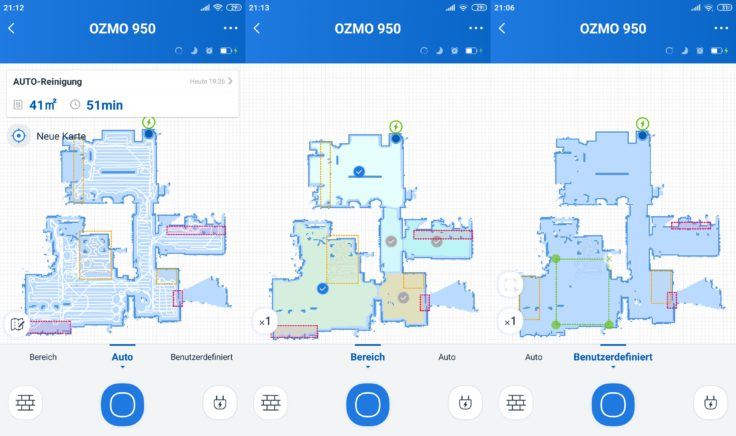 Ecovacs Deebot Ozmo 950 Saugroboter Home App Mapping Raumeinteilung