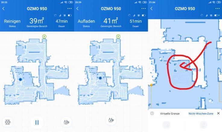 Ecovacs Deebot Ozmo 950 Saugroboter Home App Mapping Teppicherkennung