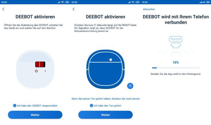 Ecovacs Deebot Ozmo 950 Saugroboter Home App WLAN-Verbindung