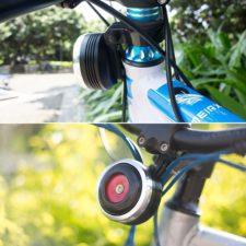 Elektrische Fahrradhupe montiert