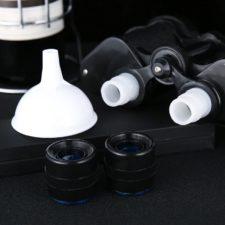 Fernglas-Flachmann Design
