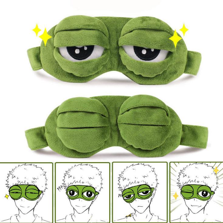 Frosch Schlafmasken Grimassen