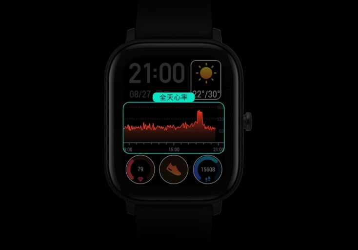 Huami Amazfit GTS Smartwatch Interface
