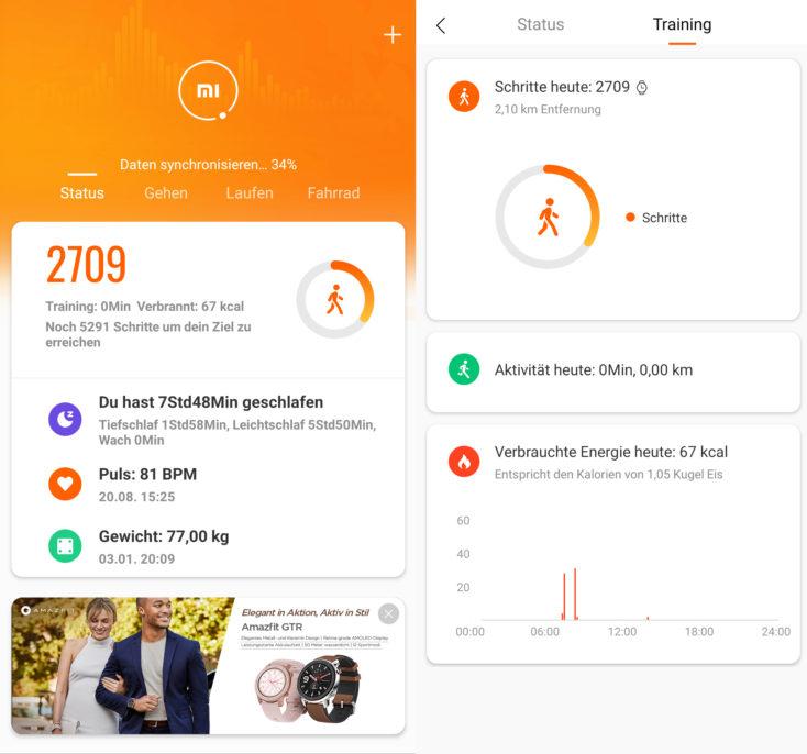 Huami Amazfit Verge Lite Mi Fit App