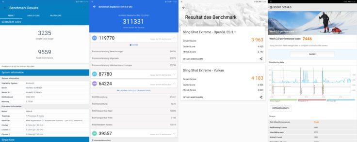 Huawei MediaPad M6 Benchmarks