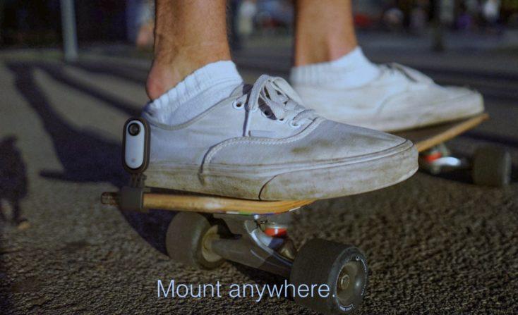 Insta360 Go Befestigung an Skateboard