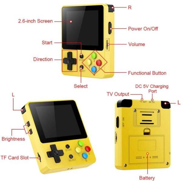 LDK Game Handheld Konsole Funktionen Tasten Bedienelemente