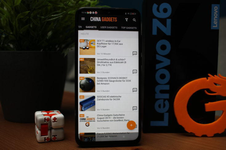 Lenovo Z6 Lite Display