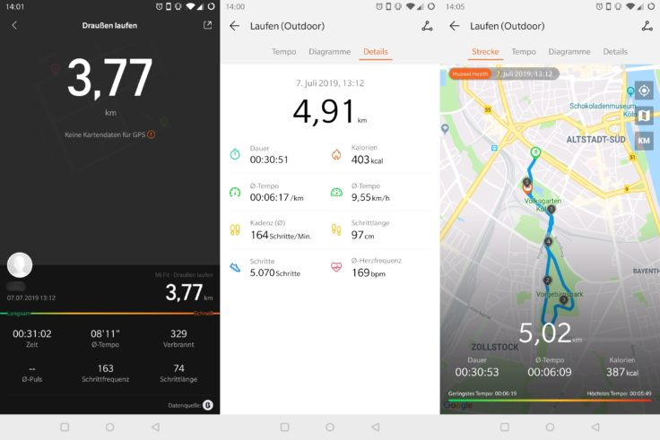 Mi Band 4 vs Honor Band 4 vs Honor Watch Magic Laufen