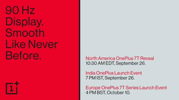 OnePlus 7T Pro Launch Events