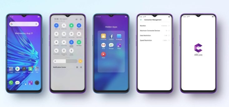 Oppo Realme 5 Pro Color OS Betriebssystem