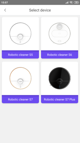 360 S7 Plus Saugroboter Modelle App