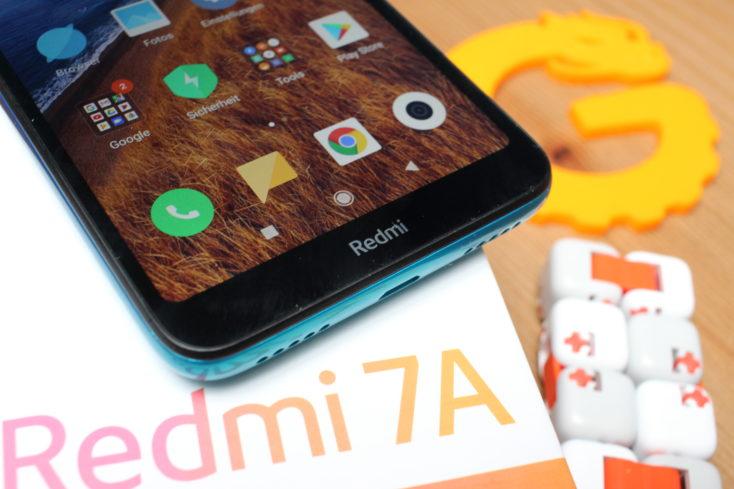 Redmi 7A Redmi Schriftzug Bildschirmrand