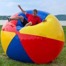 Riesen Strandball Sprung