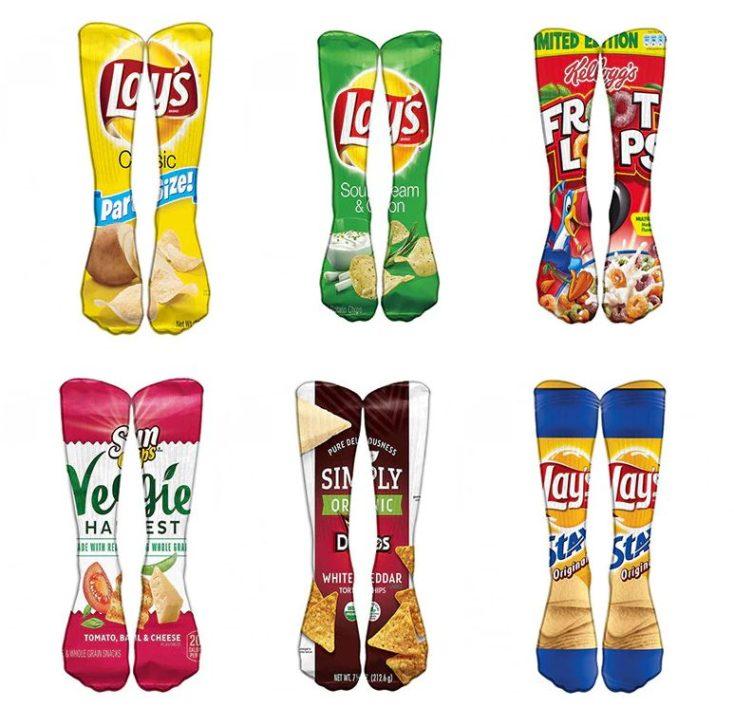 Chips-Socken sechs Paar