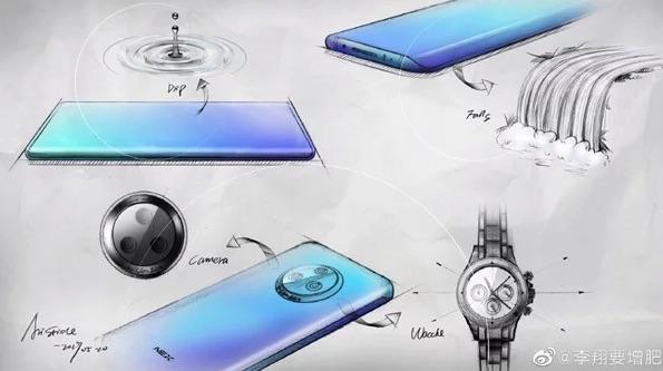 Vivo NEX 3 Smartphone Zeichnung
