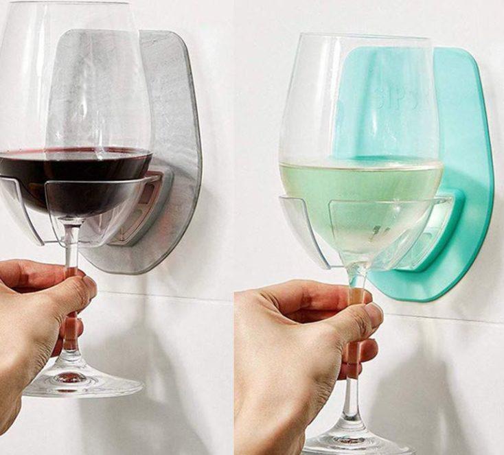 Weinglas-Halter zwei Farben