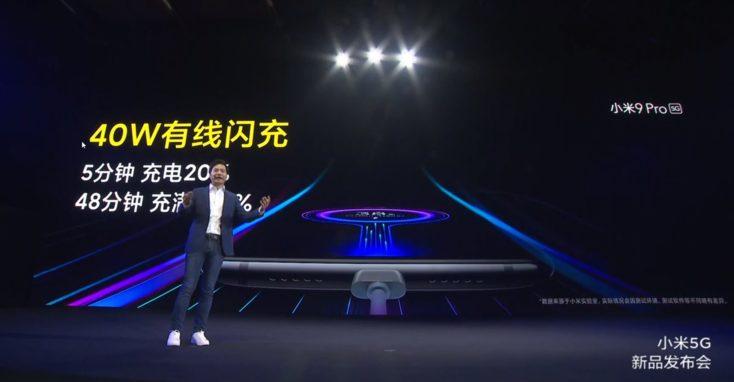 Xiaomi Mi 9 Pro 5G 40W Laden
